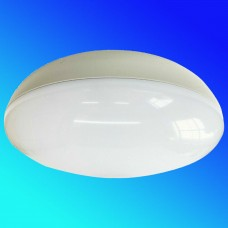2D Emergency Maintained Bulkhead Round White Surface Mount 28W Light